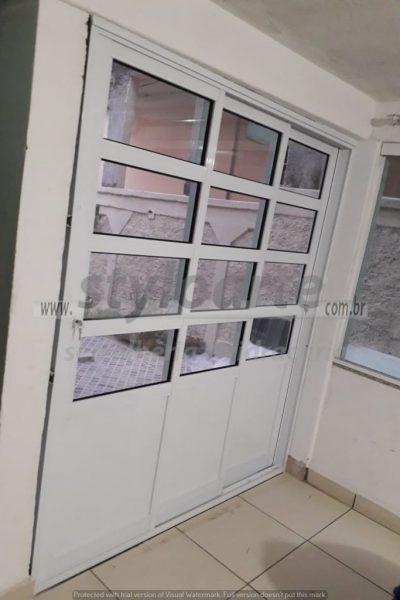 Porta de correr de 3 folhas - Serralheria de Alumínio - Itaquera