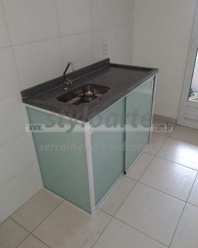 Fechamento de pia em vidro - Itaquera