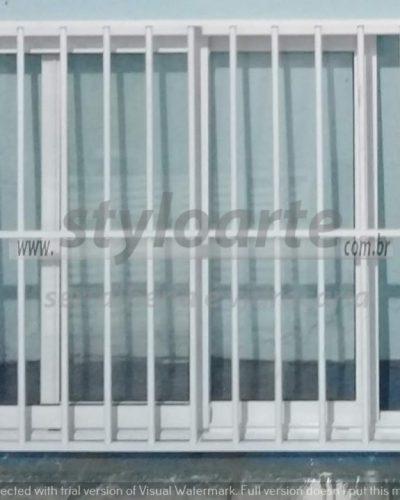Janela de Alumínio com grades - Itaquera