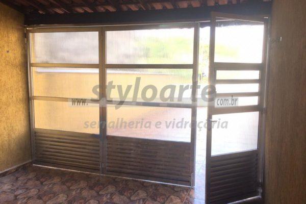Portão Versátil Camarão em Alumínio - Itaquera